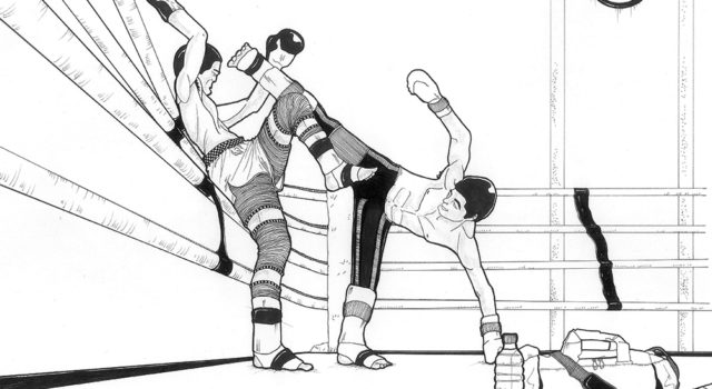 Boxers Practicing